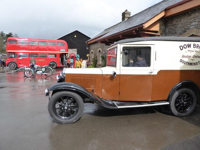 Historic vehicles at Buckfastleigh Station