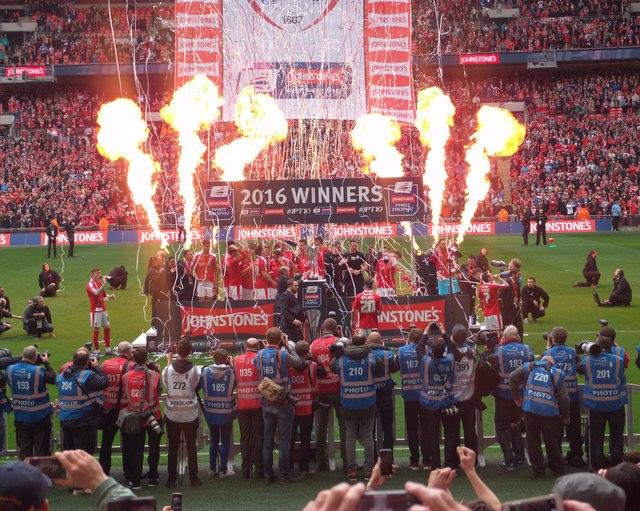 Wembley celebrations