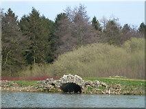 TF0322 : Weir under Red Bridge near Grimsthorpe Castle by Richard Humphrey