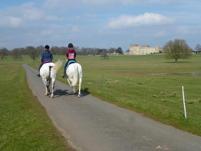 Horse riding in Grimsthorpe Park