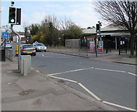 SO9322 : Pelican crossing to Cheltenham Spa Railway Station by Jaggery