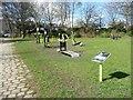 SE1437 : Outdoor gym, Shipley Central Park by Christine Johnstone