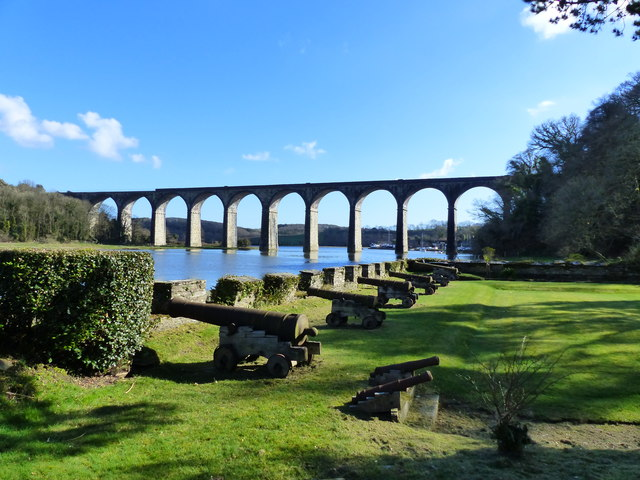Viaduct over the River Tiddy at St Germans, Cornwall