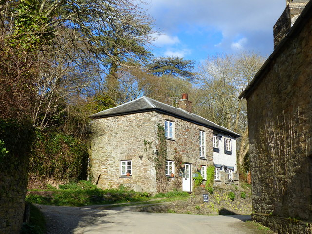 Cottages in St Germans, Cornwall