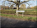 TM1854 : Helmingham Road sign by Adrian Cable