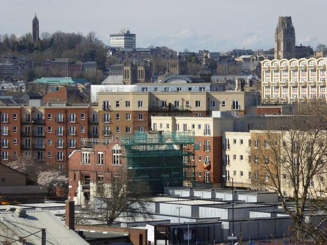 The Bristol skyline