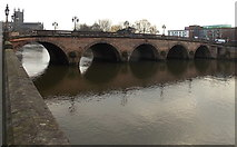SO8454 : Worcester Bridge, Worcester  by Jaggery