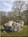 SD5074 : Split boulder, Summerhouse Hill by Karl and Ali