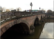 SO8454 : West side of Worcester Bridge, Worcester by Jaggery