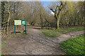 SU8555 : Signboard, Southwood Meadows by Alan Hunt