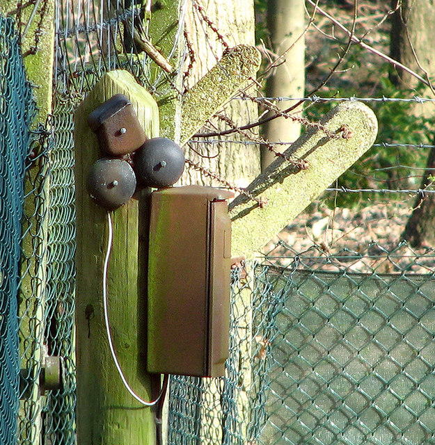 Telephone extension box on the gatepost