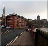 SO8454 : South Parade, Worcester by Jaggery