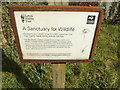 TM1354 : Footpath Sign at St.Mary's Church by Adrian Cable