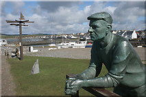 NX3343 : Looking out to sea, Port William by Richard Sutcliffe