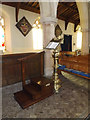 TM1354 : St.Mary's Church Lectern by Adrian Cable