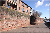 SJ4065 : Chester City Walls and Drum Tower by Jeff Buck