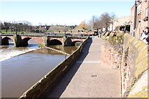 SJ4065 : Chester City Walls and the River Dee by Jeff Buck