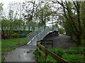 SH7217 : Footbridge over the river Mawddach by Eirian Evans