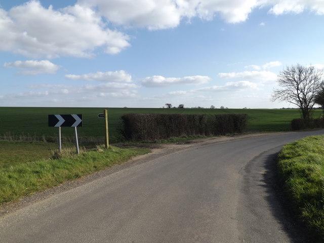 Creeting Lane & footpath