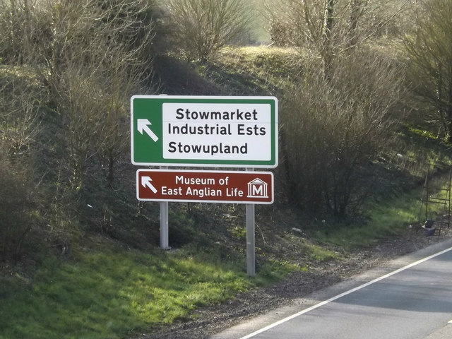 Roadsign on the A14