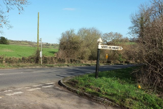 Signpost by the A367