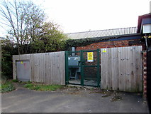 SO9322 : Electricity substation at the edge of Cheltenham Spa Railway Station by Jaggery