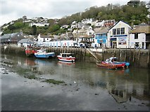 SX2553 : Low tide in Looe harbour by Philip Halling