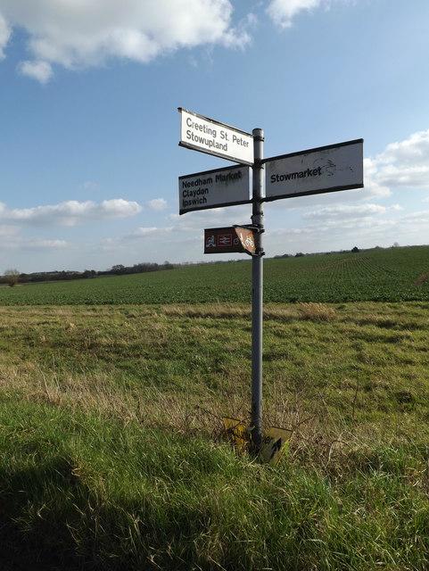 Roadsign on Mill Lane