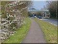 TL1496 : Path along the A605 in Orton Wistow by Mat Fascione