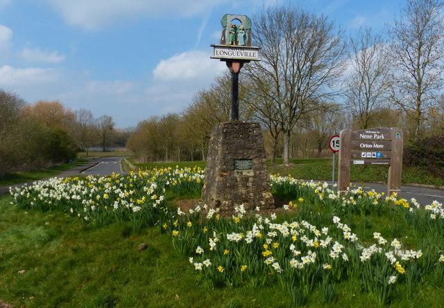 Orton Longueville village sign