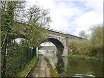 TQ2182 : Harlesden, railway bridge by Mike Faherty