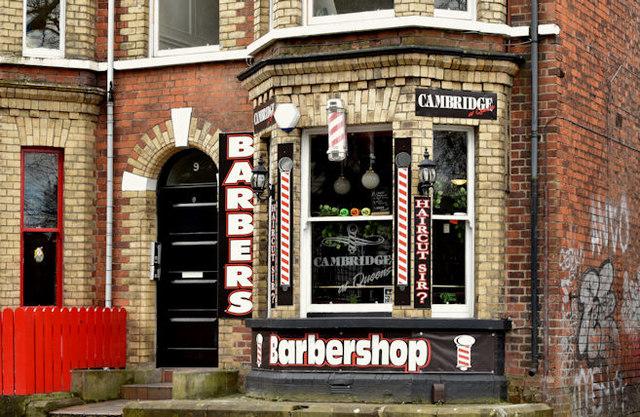 Barber, Stranmillis, Belfast (April 2016)