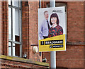 J3373 : Assembly election poster, Ormeau Avenue, Belfast (April 2016) by Albert Bridge