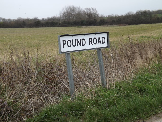 Pound Road sign