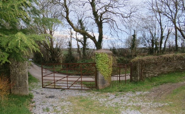 Farrangalway station east side gates