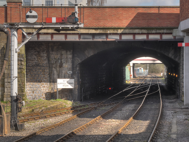 East Lancashire Railway, Entrance to Bury Tunnel