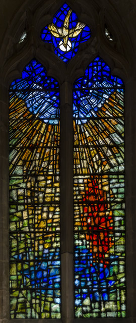 Stained glass window, St Denys' church, Silk Willoughby