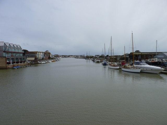 River Arun from footbridge, Littlehampton