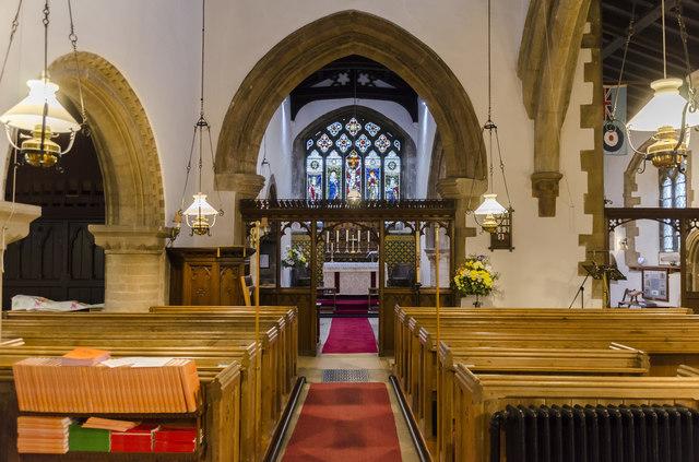 Interior, St Clement's church, Fiskerton