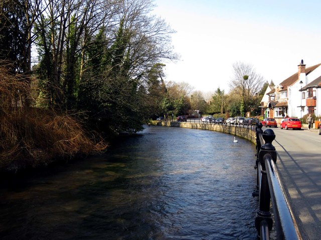The River Itchen in Bishopstoke