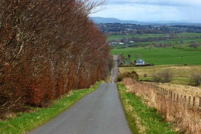 Newkayes Road, view down brae