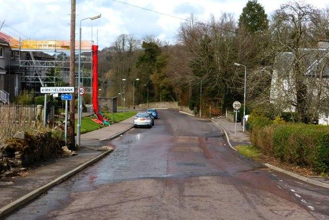 Southern approach to Kirkfieldbank