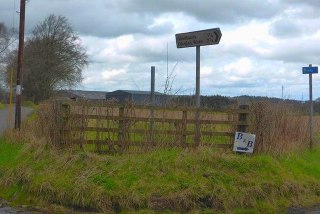 Road junction, Wellshiels