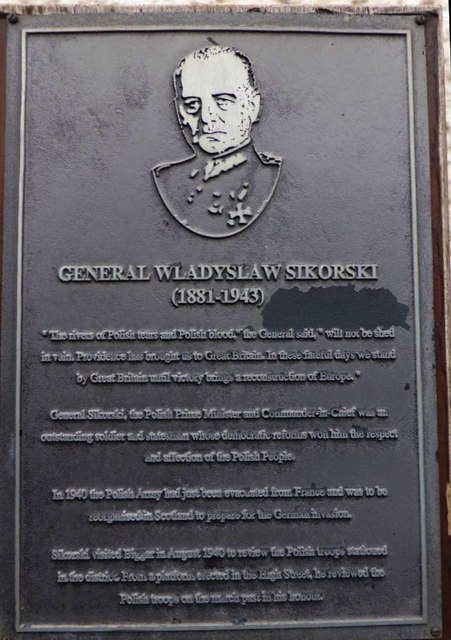 Memorial Plaque, General W Sikorski, Polish Army