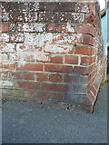 TL8422 : Re-created benchmark - Coggeshall, Long Bridge by Richard Law