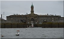 SX4653 : Royal William Victualling Yard - Melville Block & Dock Basin by N Chadwick