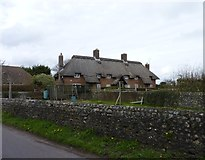 TQ0001 : Cottages, Climping Street, Atherington, West Sussex by Jeff Gogarty