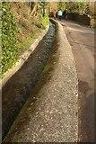 SS9843 : Water channel, Mill Lane, Dunster by Derek Harper