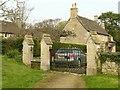 SP9499 : Churchyard gates, Barrowden by Alan Murray-Rust