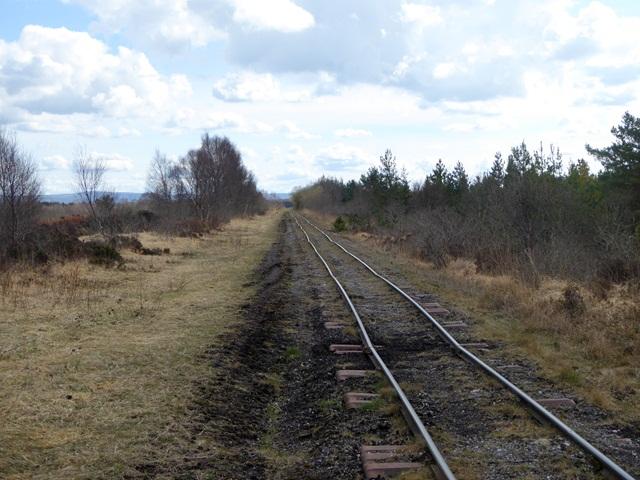 Light railway on the Lough Boora Peatlands